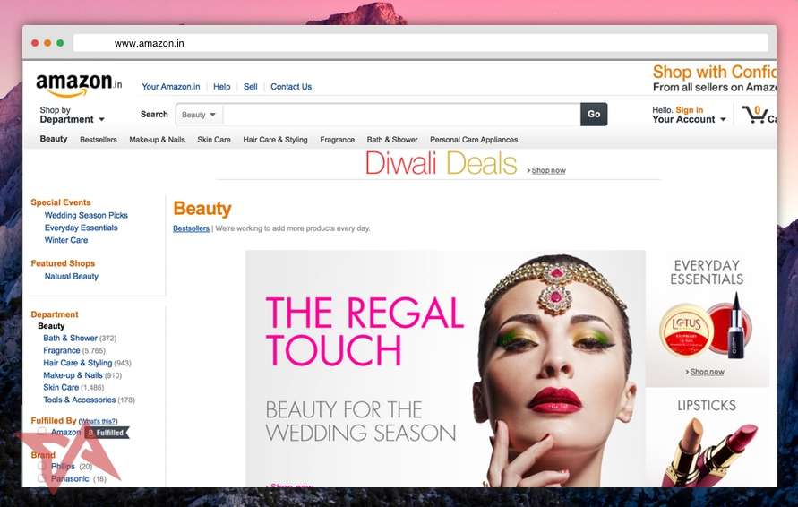 Amazon India Beauty Store Mosnar Communications
