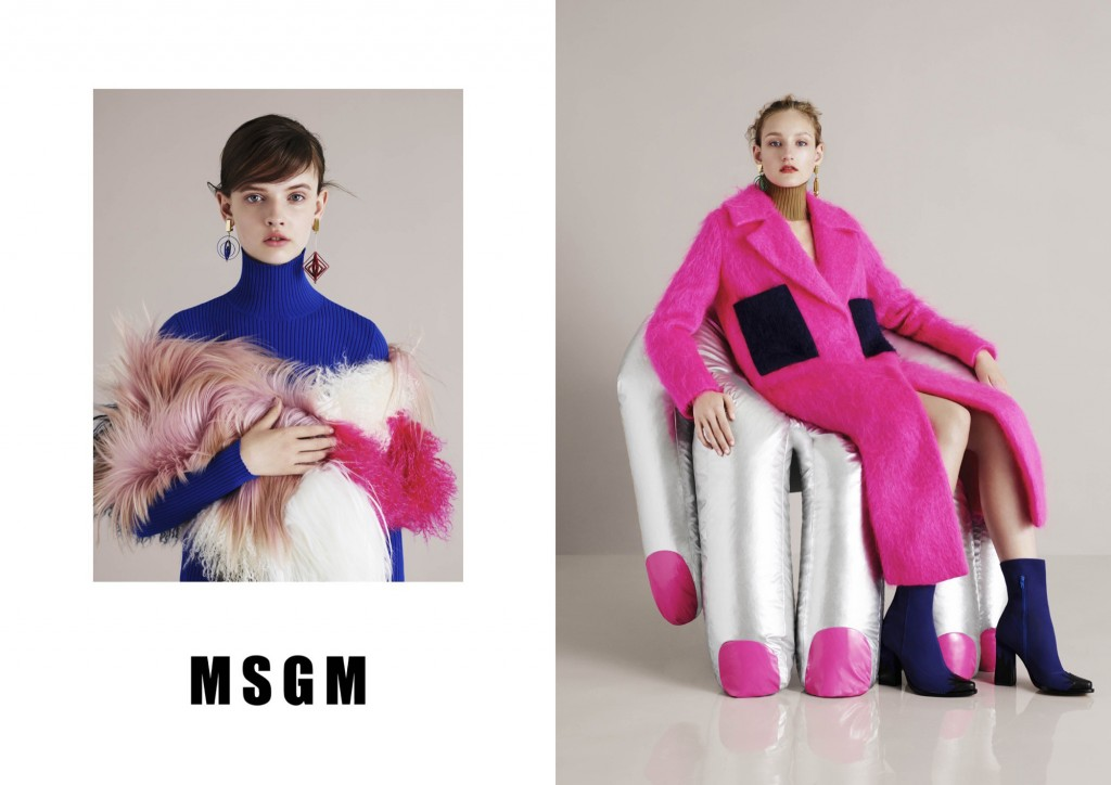 MSGM Fashion Fall Winter Campaigns 2015 Luxury Brand Ambassadors MosnarCommunications