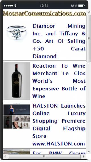 MosnarCommunications Luxury Diffusion App