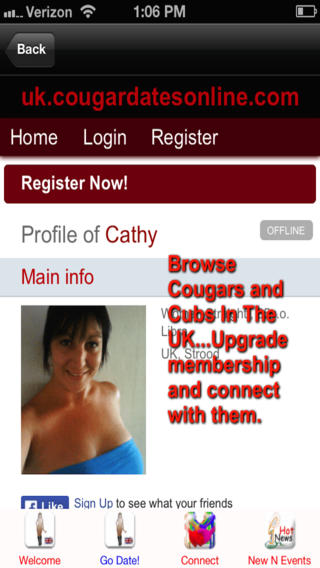 Cougar Dates Online App UK