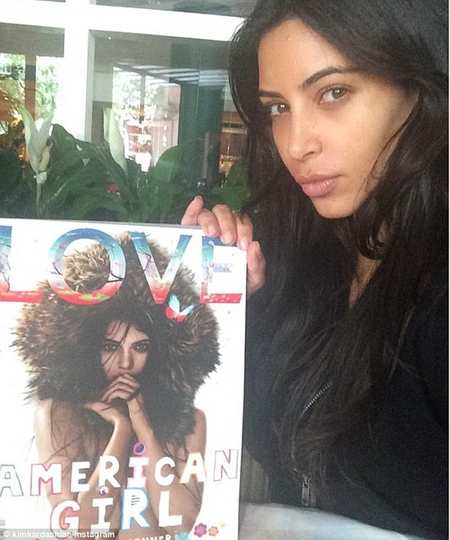 Kim no make up Kendall cover