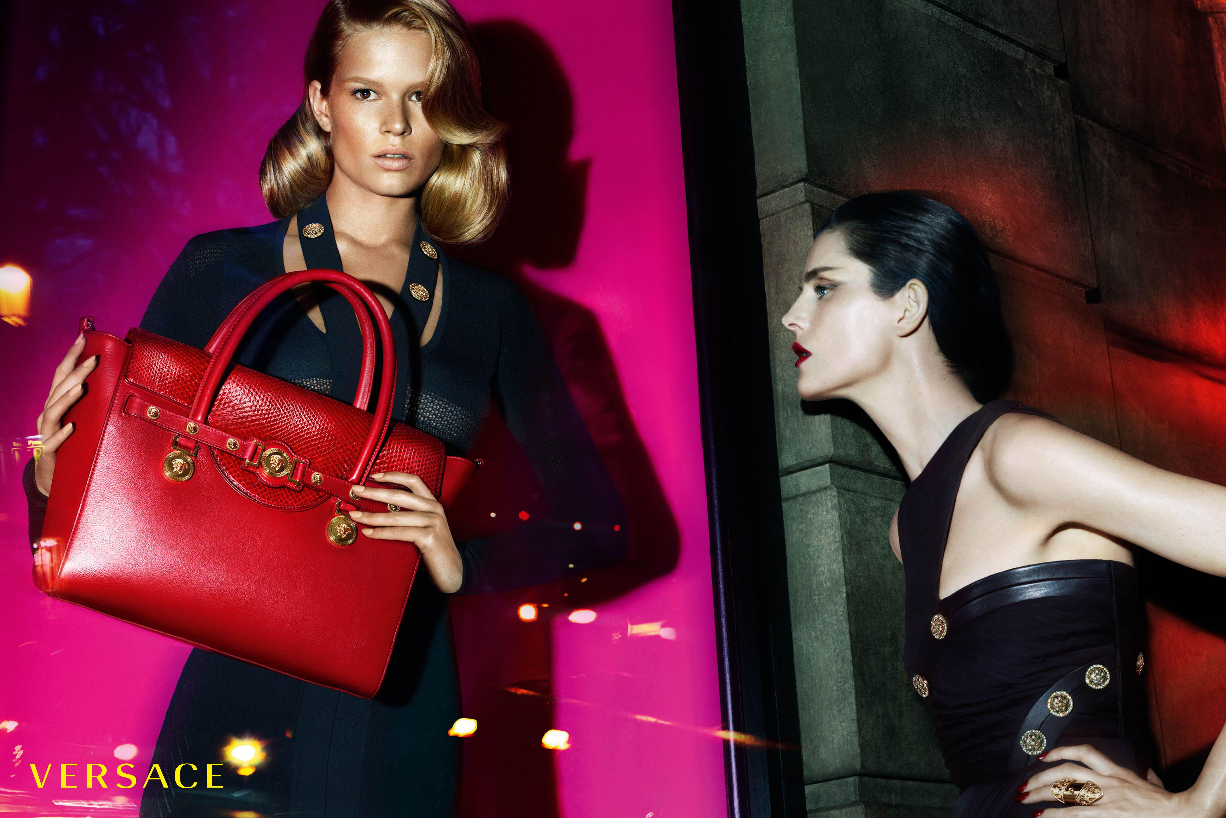 VERSACE luxury ad campaign logo