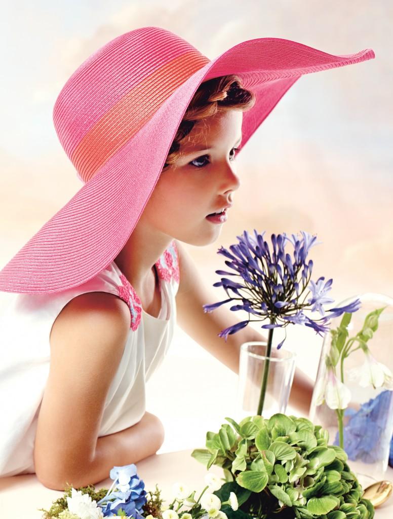 Baby Dior Spring Summer 2015 girls hats