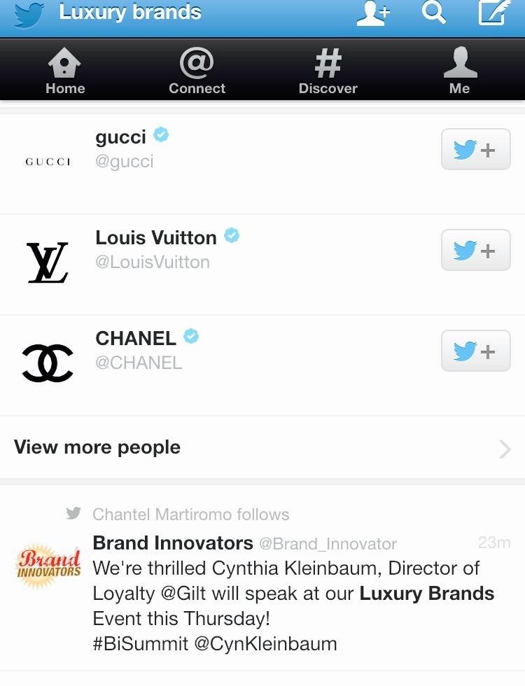 Most Influential  Luxury Brands Accounts On Twitter MosnarCommunications #Luxury #LuxuryMarketing