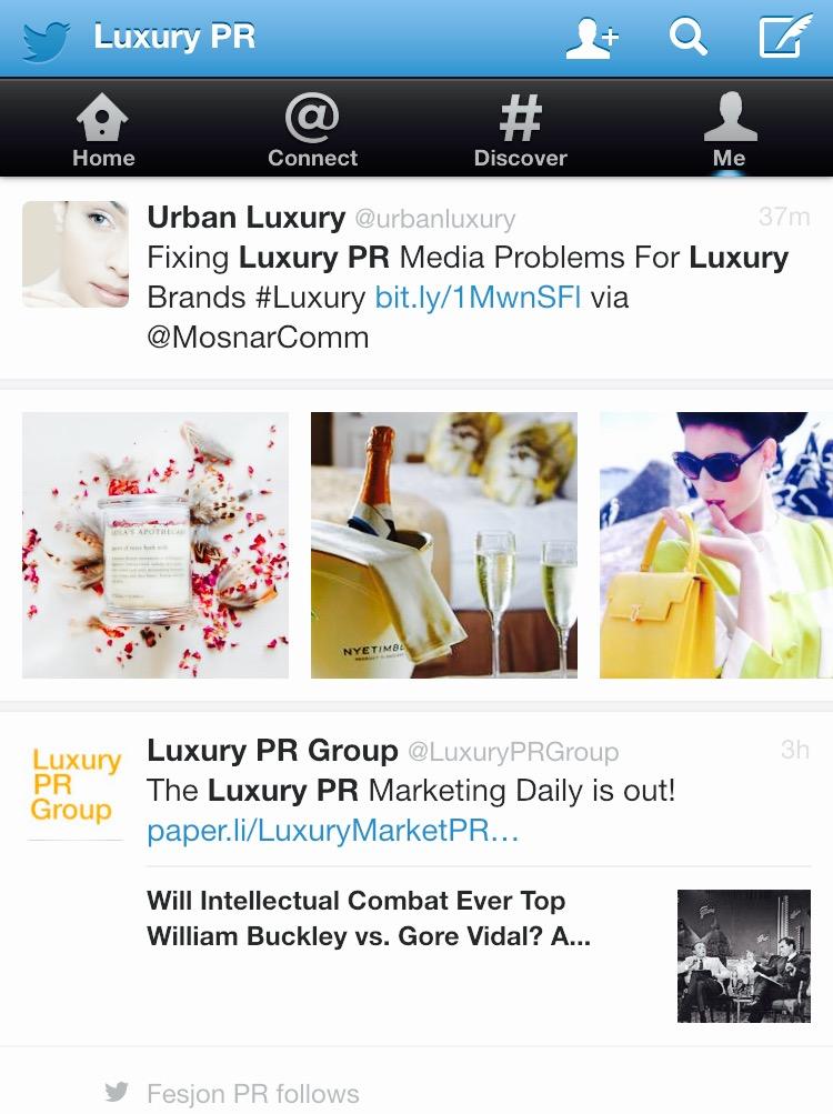 Most Influential  Luxury PR Conversations On Twitter MosnarCommunications #Luxury #LuxuryMarketing