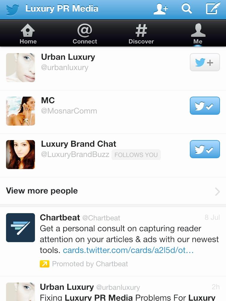 Most Influential  Luxury PR Media Accounts On Twitter MosnarCommunications #Luxury #LuxuryMarketing