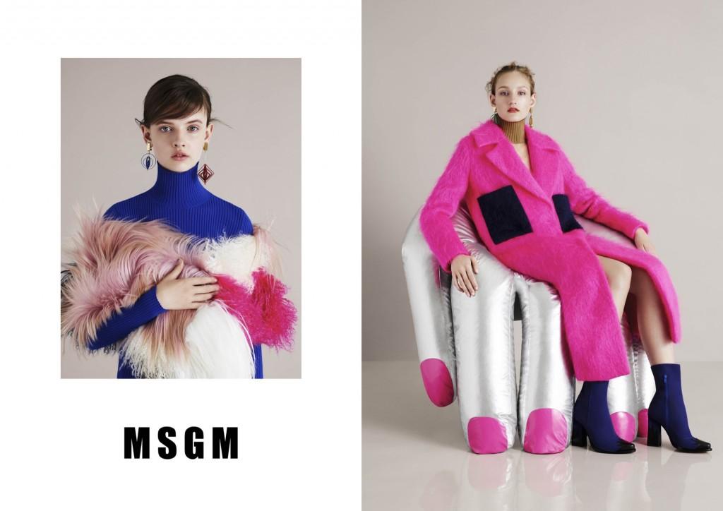 MSGM Fashion Fall Winter Campaigns 2015 Luxury Brand Ambassadors MosnarCommunications
