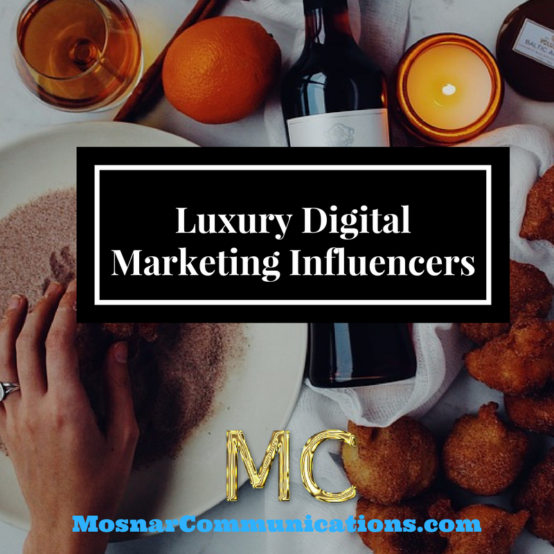 Luxury digital marketing influencers Mosnar Communications main