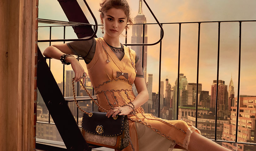 Coach x Selena Gomez main Mosnar Communications