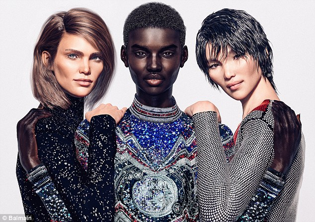 Balmain CGI Luxury Brand Digital Models Mosnar Communications