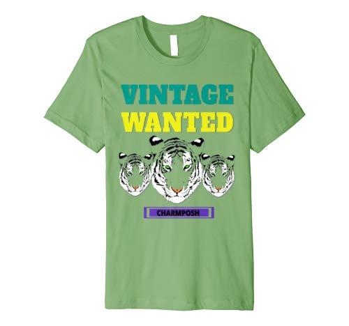 Vintage Wanted Designer T-Shirt Brand Logo 3 CharmPosh Mosnar Communications