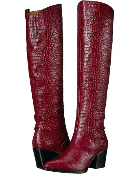 CAYLEN-by-SARTO-Wine-Croco-Boots-Mosnar-Communications