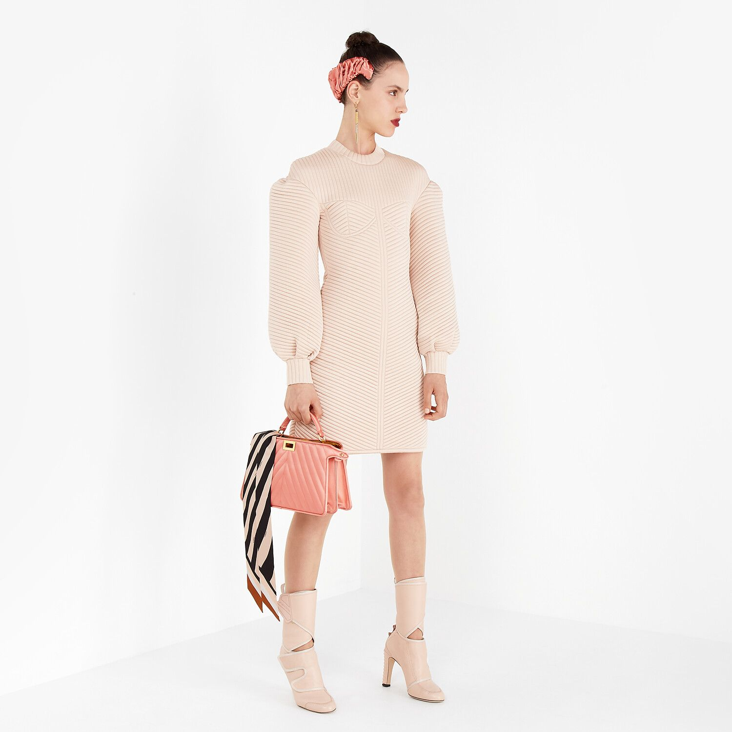 FENDI Pink quilted fabric dress Mosnar Communications